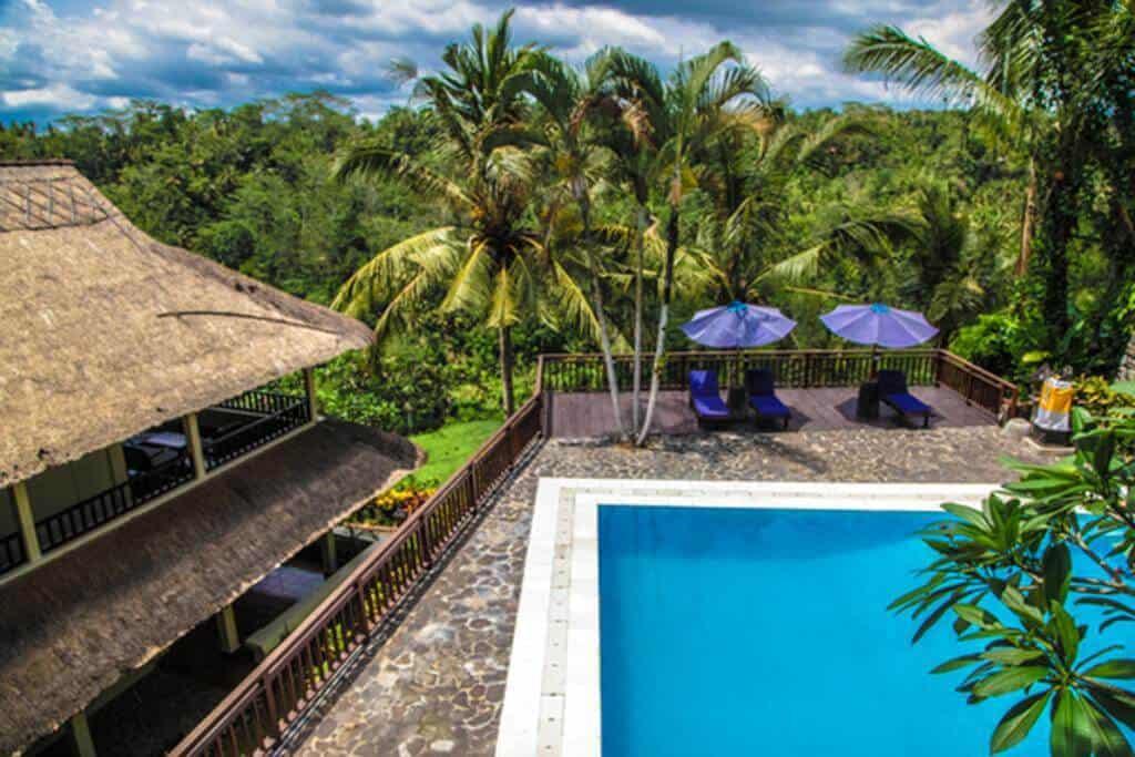 hotel bali ubud gorges ayung piscine