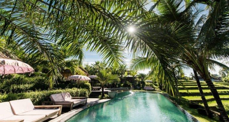 hotel bali ubud luxe piscine riziere