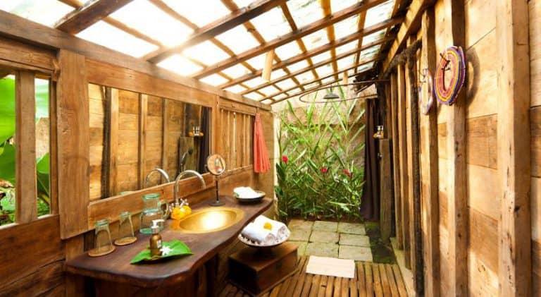 hotel bali ubud salle de bain extérieur