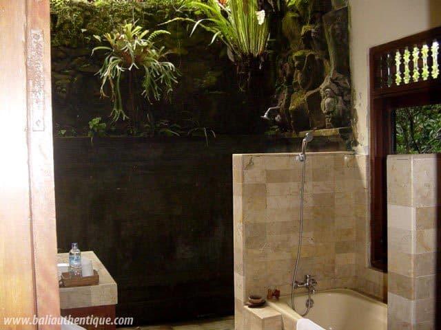 hotel bali ubud salle de bain ouverte