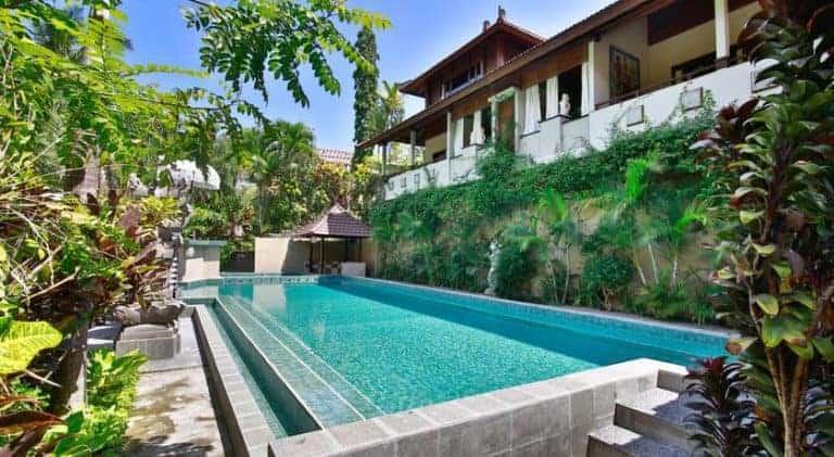 hotel bali ubud végétation piscine