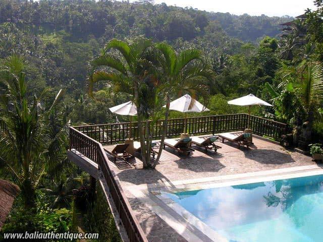 hotel bali ubud vue de la piscine