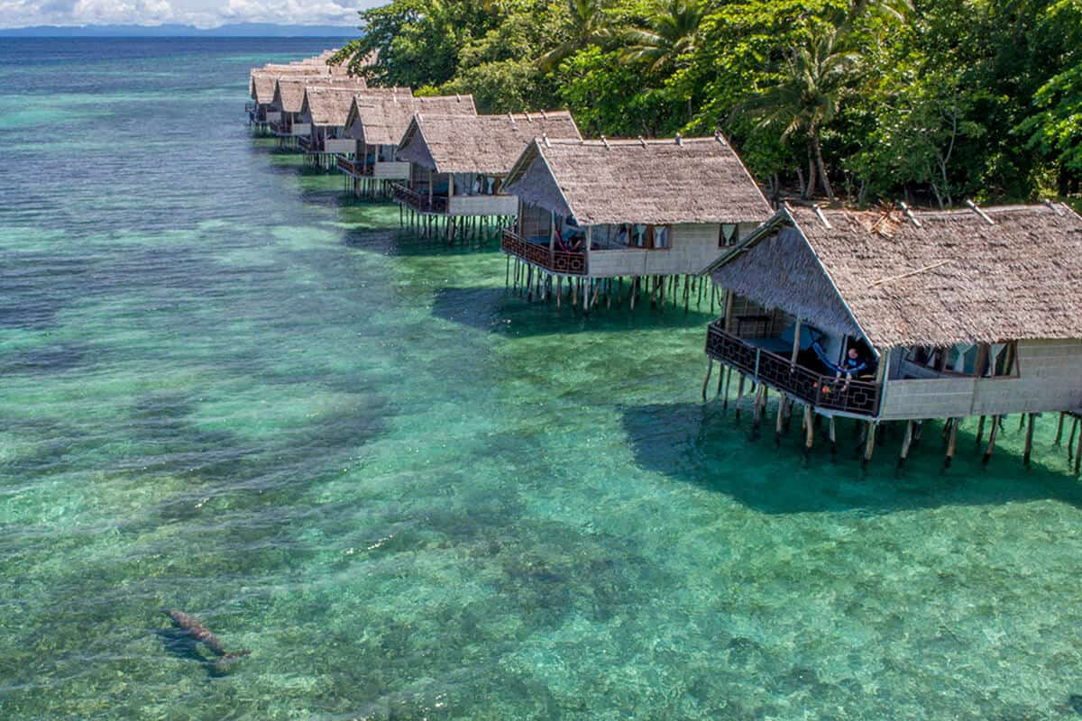 hotel charme luxe papouasie raja ampat