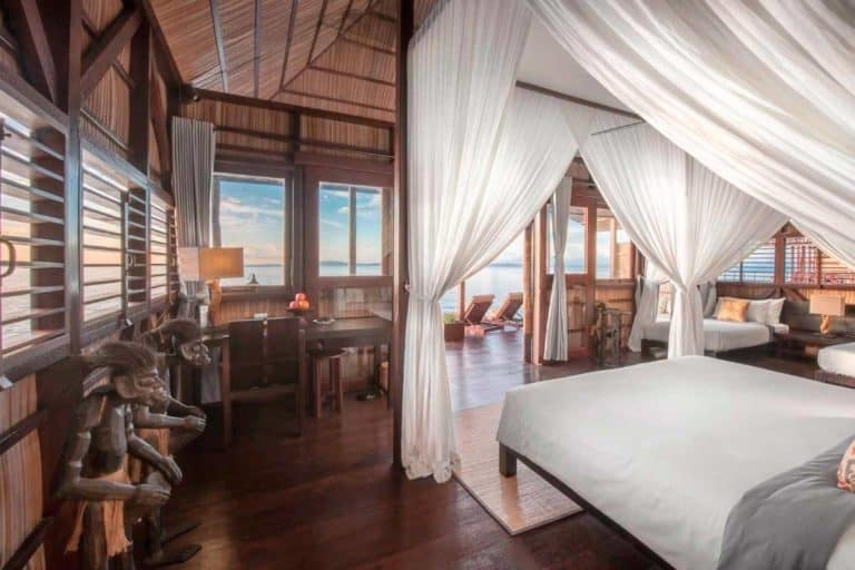 hotel charme luxe raja ampat chambre