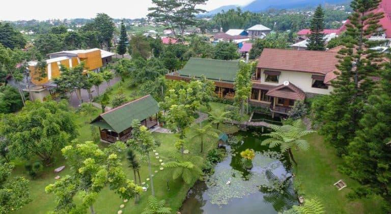 hotel Flores Ruteng vue aérienne