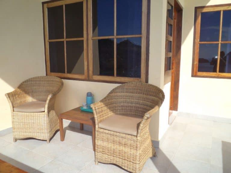 hotel flores terrasse bungalow chambre