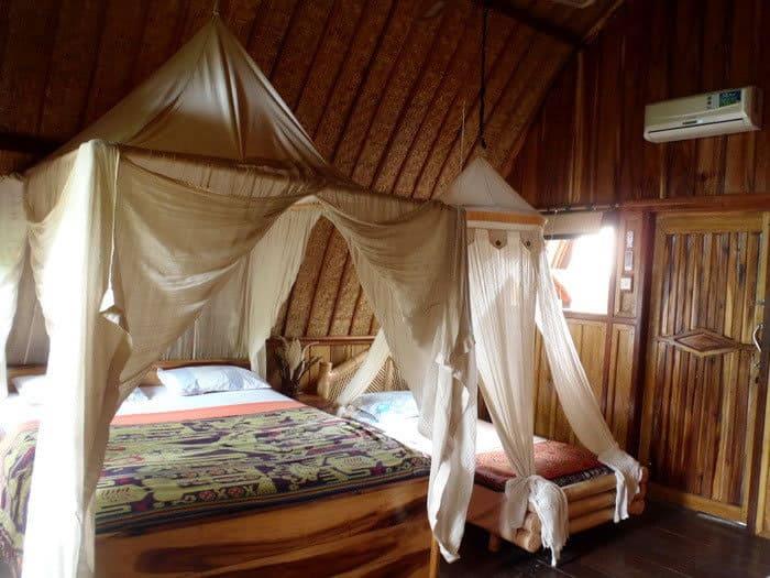 hotel gili air intérieur bungalow