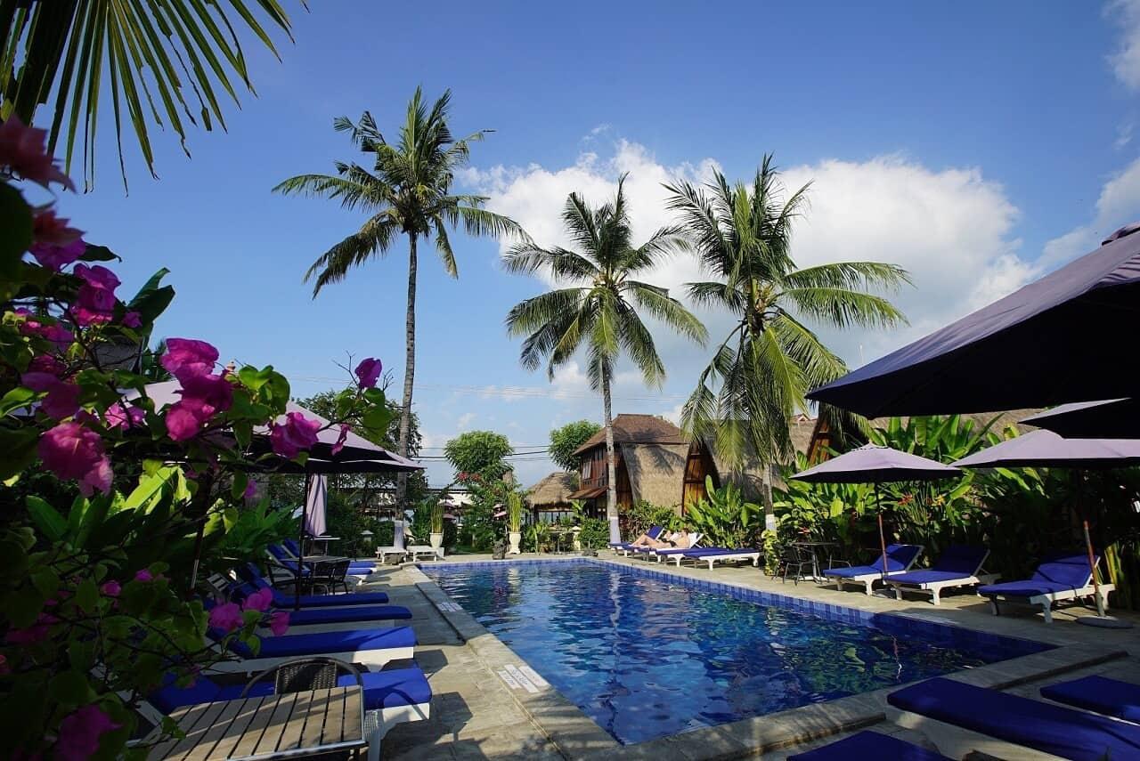 hotel gili air lombok côté piscine