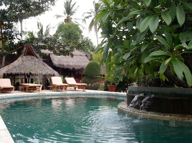hotel gili air piscine exterieure