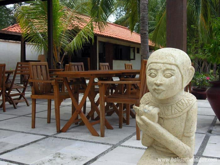 hotel gili indonésie restaurant