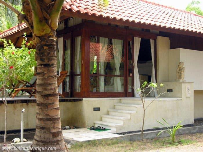hotel gili indonésie villa plage