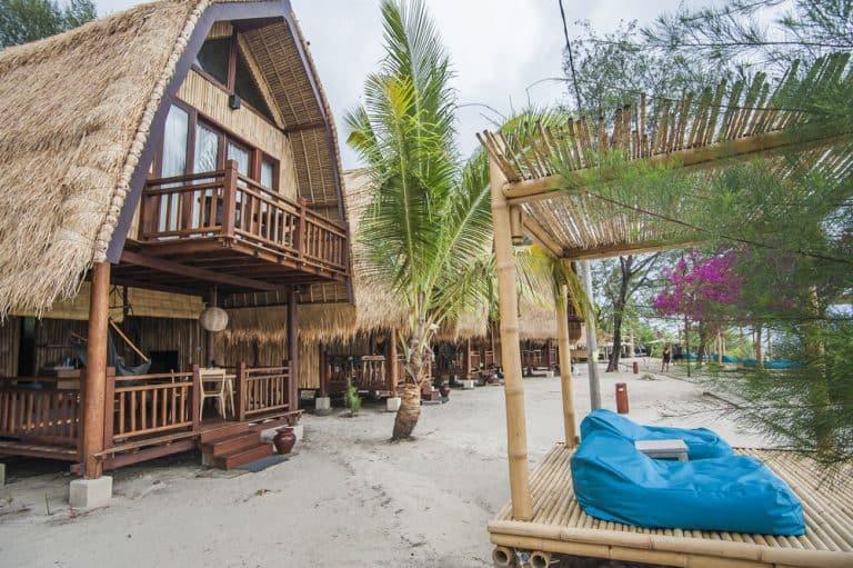 hotel gili meno lombok bungalow