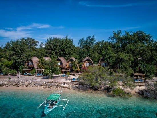 hotel gili meno lombok vue générale