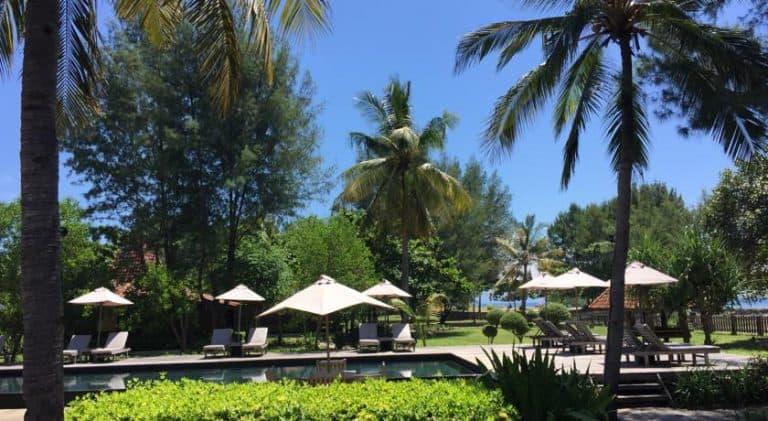 hotel gili trawangan piscine extérieure