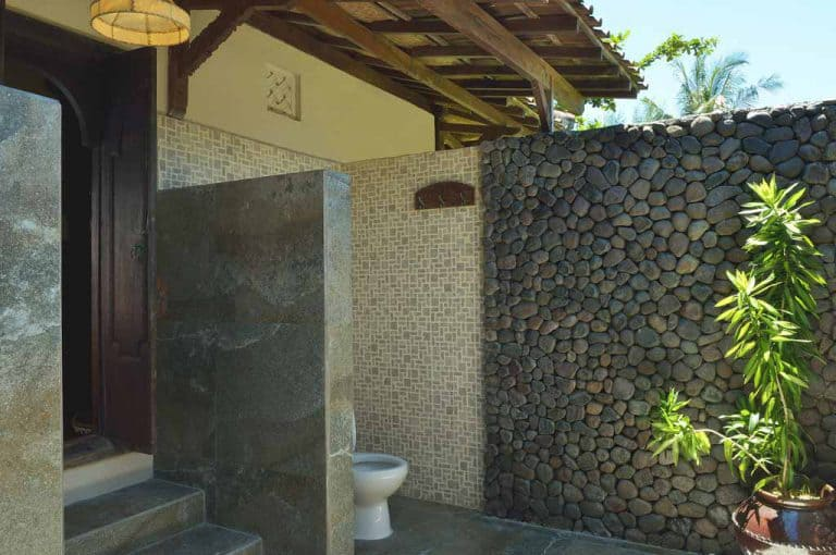 hotel gili trawangan salle de bain ouverte