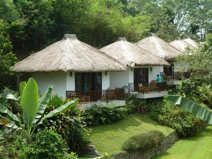 hotel indonésie flores vue bungalows