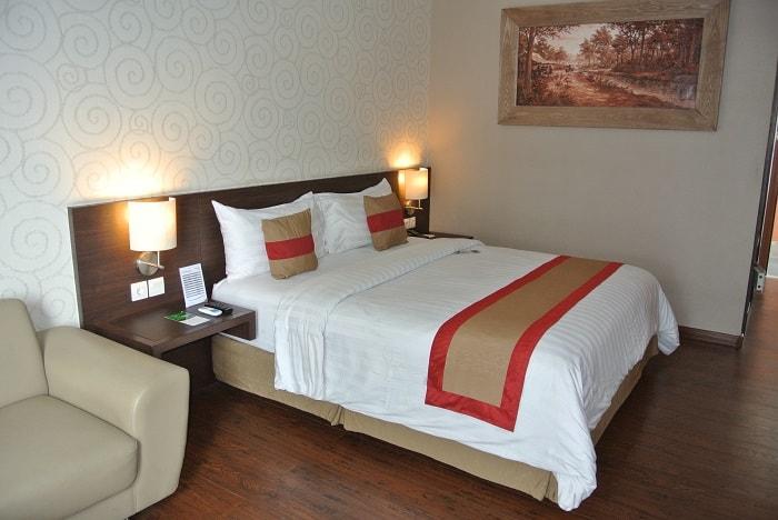 hotel java Meru Betiri chambre lit double