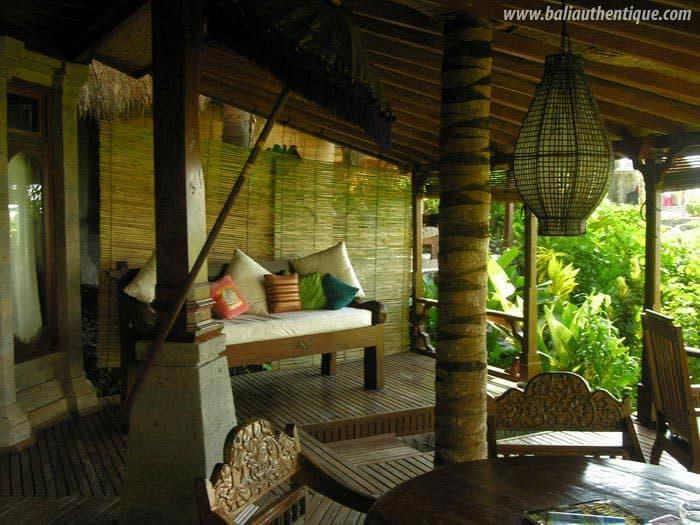 hotel karangasem indonésie terrasse bungalow