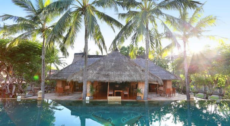 hotel lombok bali bar piscine