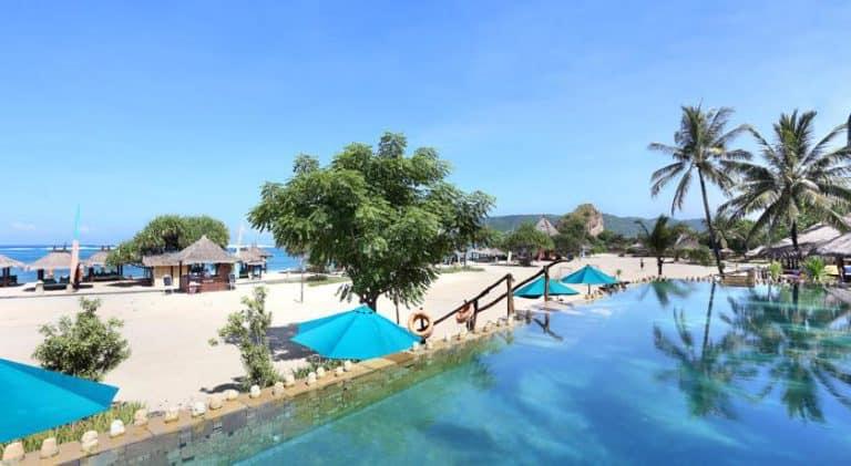 hotel lombok bali piscine debordante