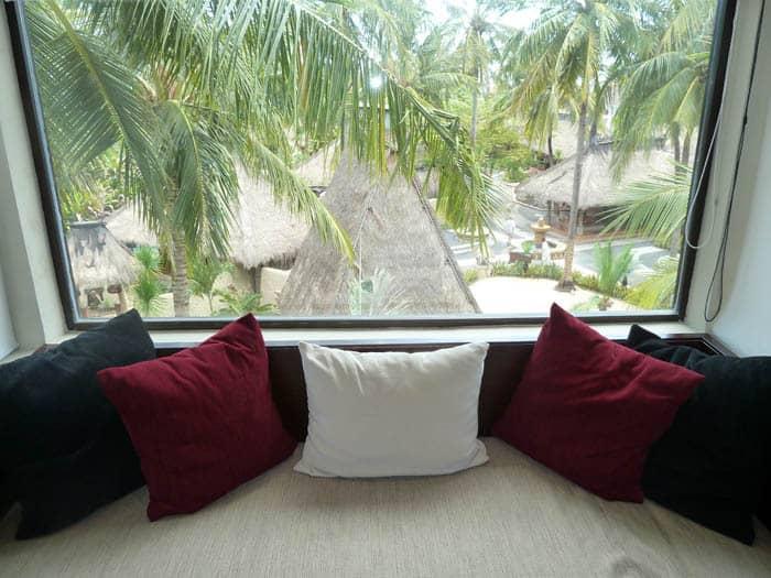 hotel lombok bali vue chambre