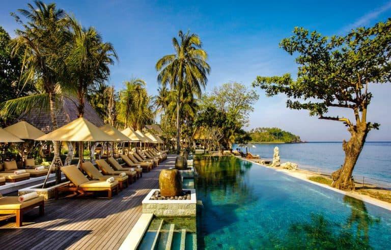 hotel lombok indonésie piscine