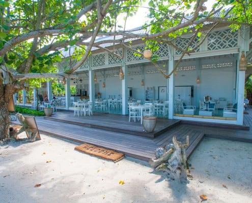 hotel lombok indonésie restaurant blanc