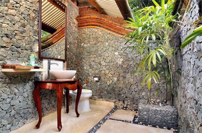 hotel lombok indonésie salle de bain ouverte extérieur