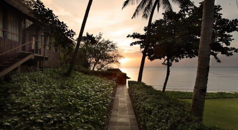 hotel lombok indonésie sunset