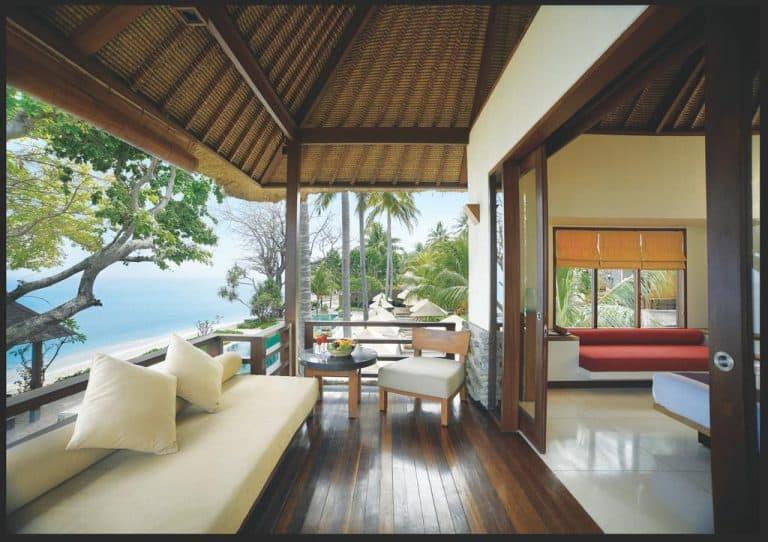 hotel lombok indonésie terrasse chambre