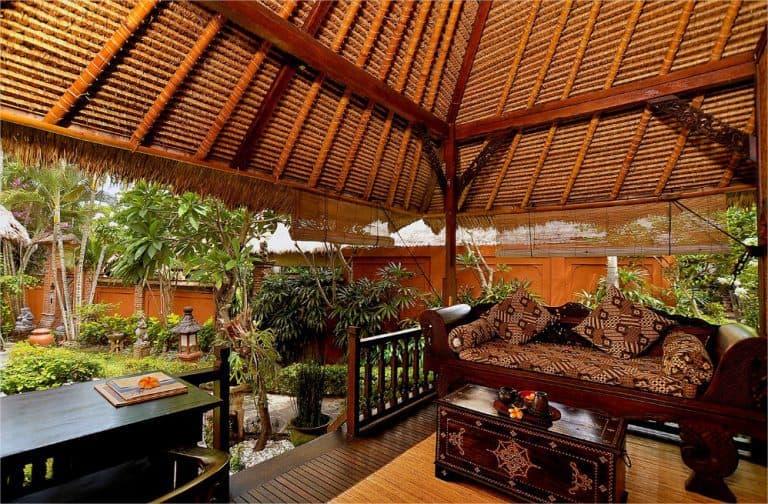 hotel lombok indonésie terrasse vue jardin