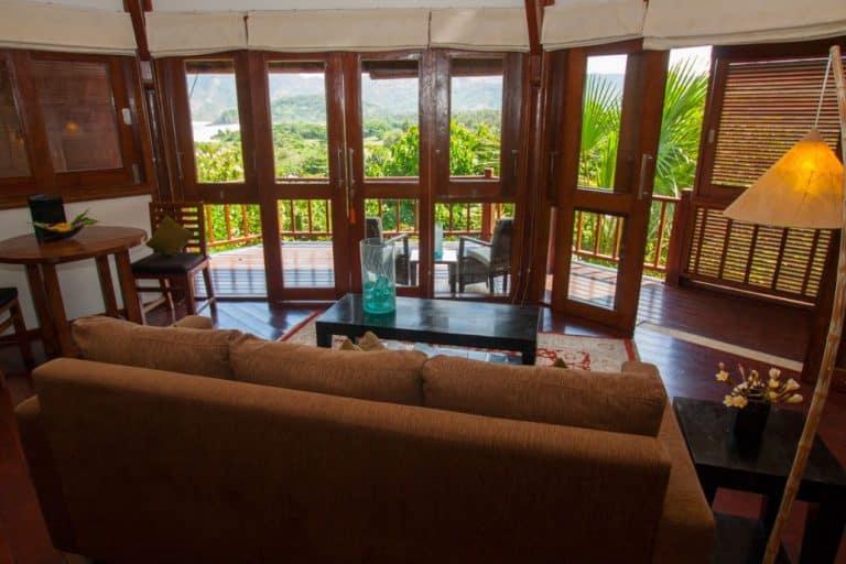 hotel lombok indonésie vue chambre