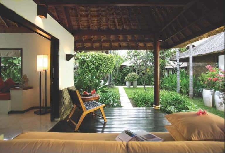 hotel lombok indonésie vue jardin