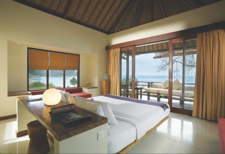 hotel lombok indonésie vue océan