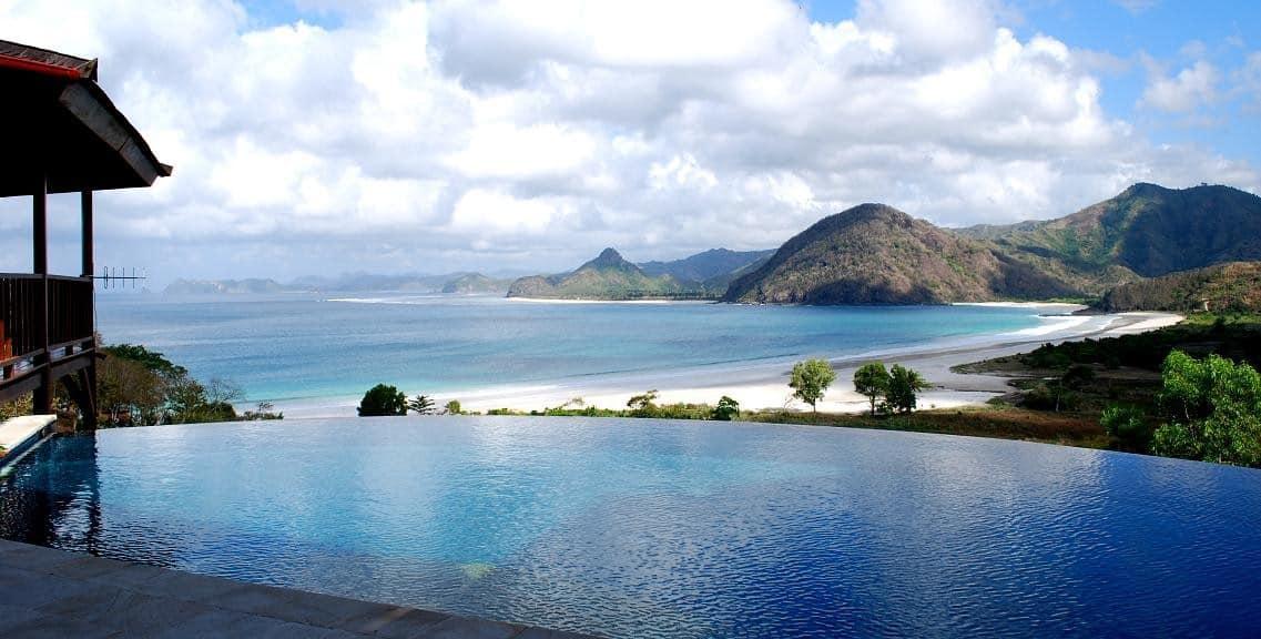hotel Lombok Selong Belanak piscine debordement rj-22