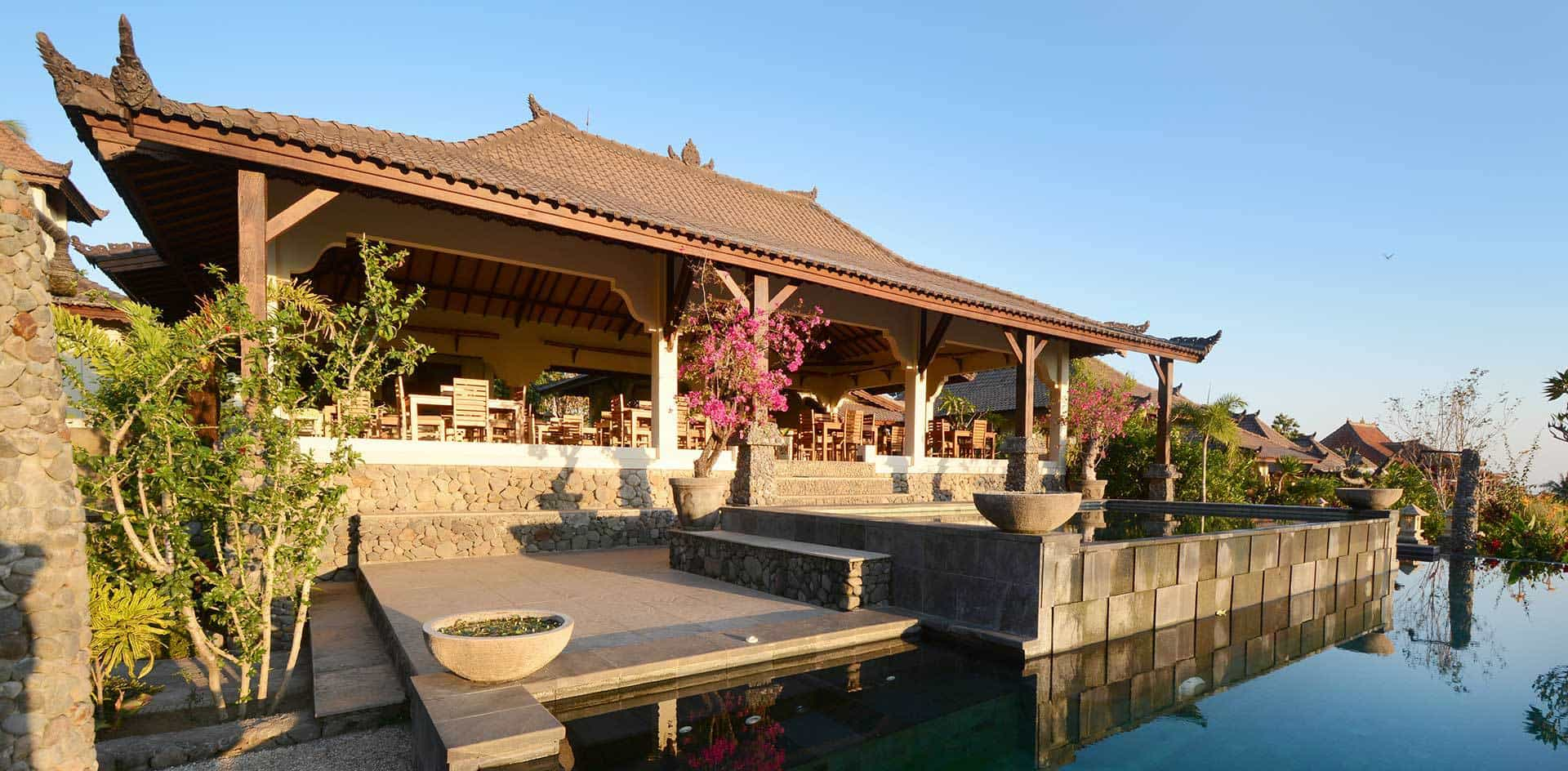 hotel Lombok Senaru bâtiment principal