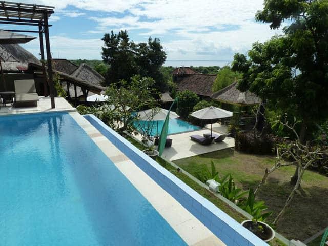 hotel nusa lembongan piscine débordante