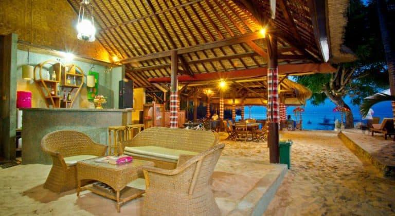 hotel nusa lembongan restaurant plage
