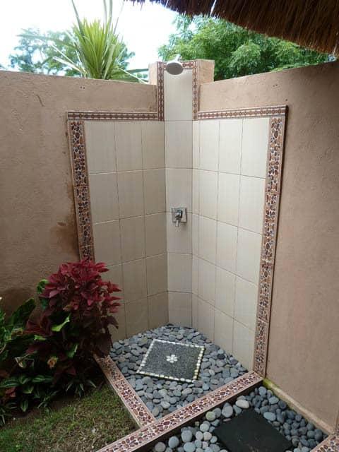 hotel nusa lembongan salle de bain extérieur