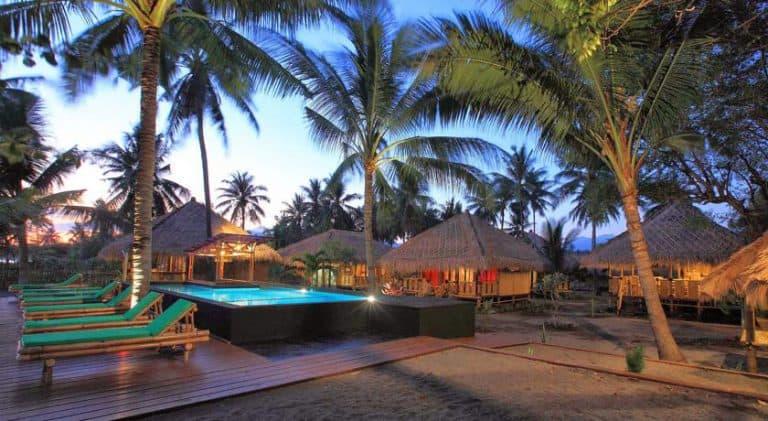 hotel rinjani lombok piscine