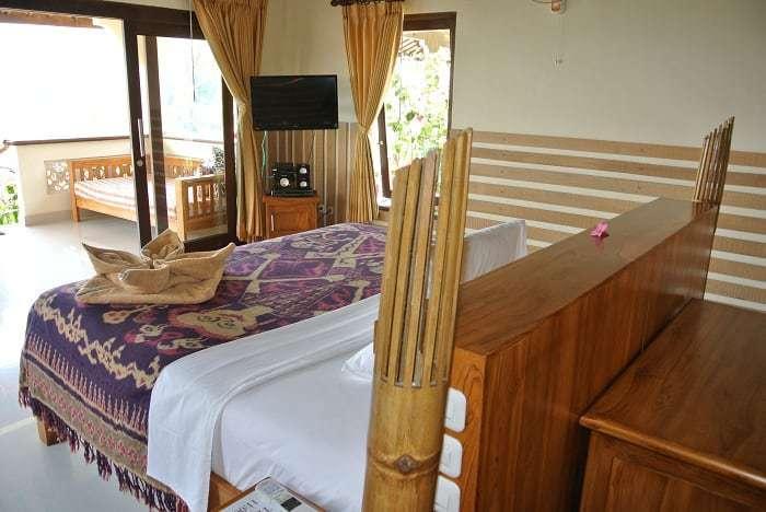 hotel senaru indonésie chambre avec vue