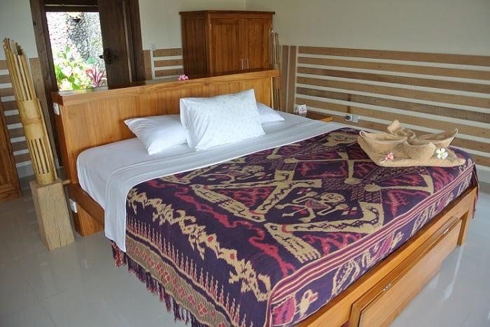 hotel senaru indonésie chambre double