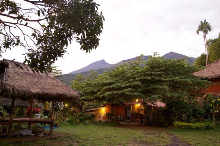 hotel senaru lombok vue jardin