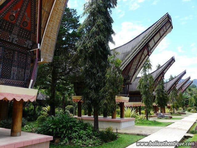 hotel sulwasi indonésie maisons typiques
