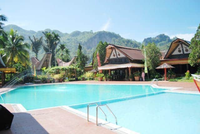 hotel sulwasi indonésie piscine