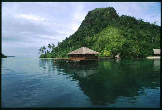 hotel Sumatra Bungus maison sur l'eau
