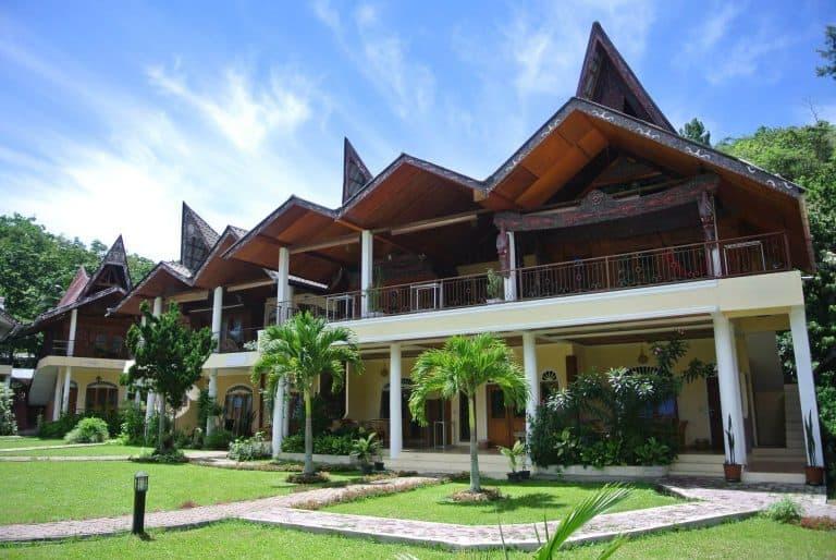 hotel Sumatra Toba maisons traditionnelles