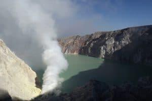 ijen vue volcan java