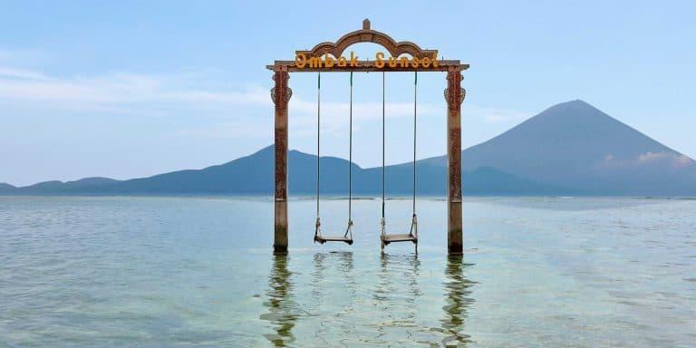 Gili Trawangan Indonésie Lombok balançoire