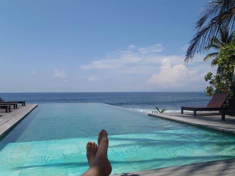 piscine à débordement hôtel Bali
